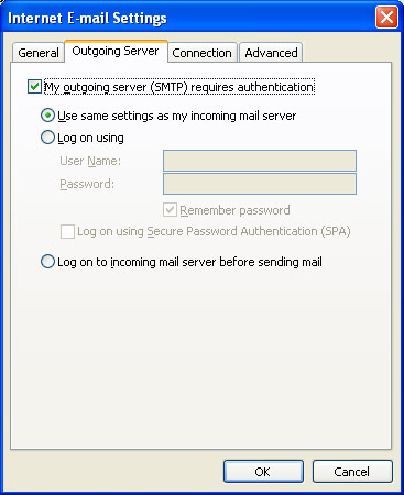 outlook-smtp-authentification